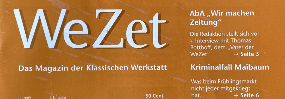 WeZet Cover Juli 2009